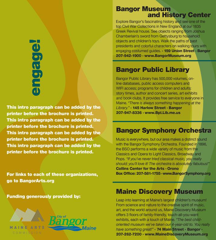 Bangor Arts Directory Interior