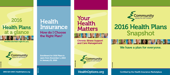 Community Health Options Brochure Covers